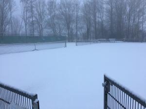 Baan 5 & 6 onder de sneeuw